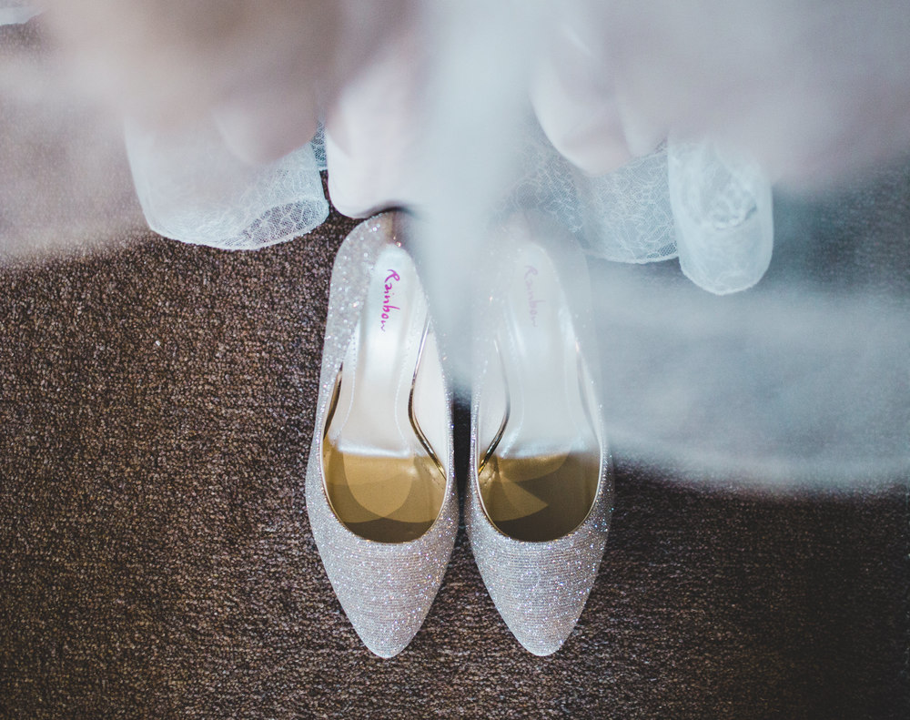 detailed shots - brides shoes