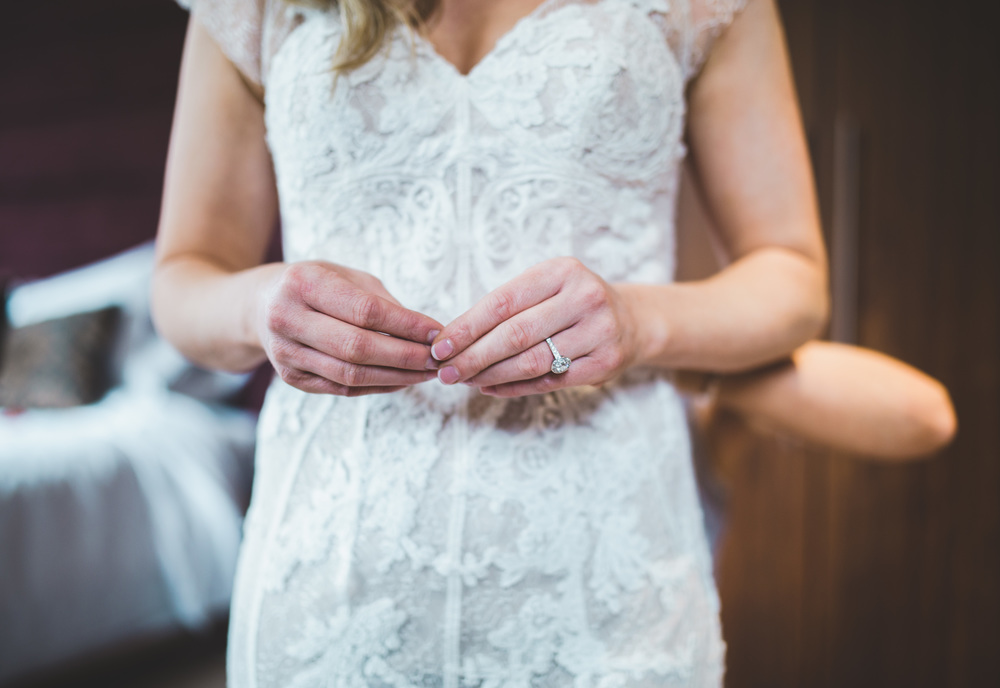 Creative wedding photography in Cheshire - close up of the bride's hands