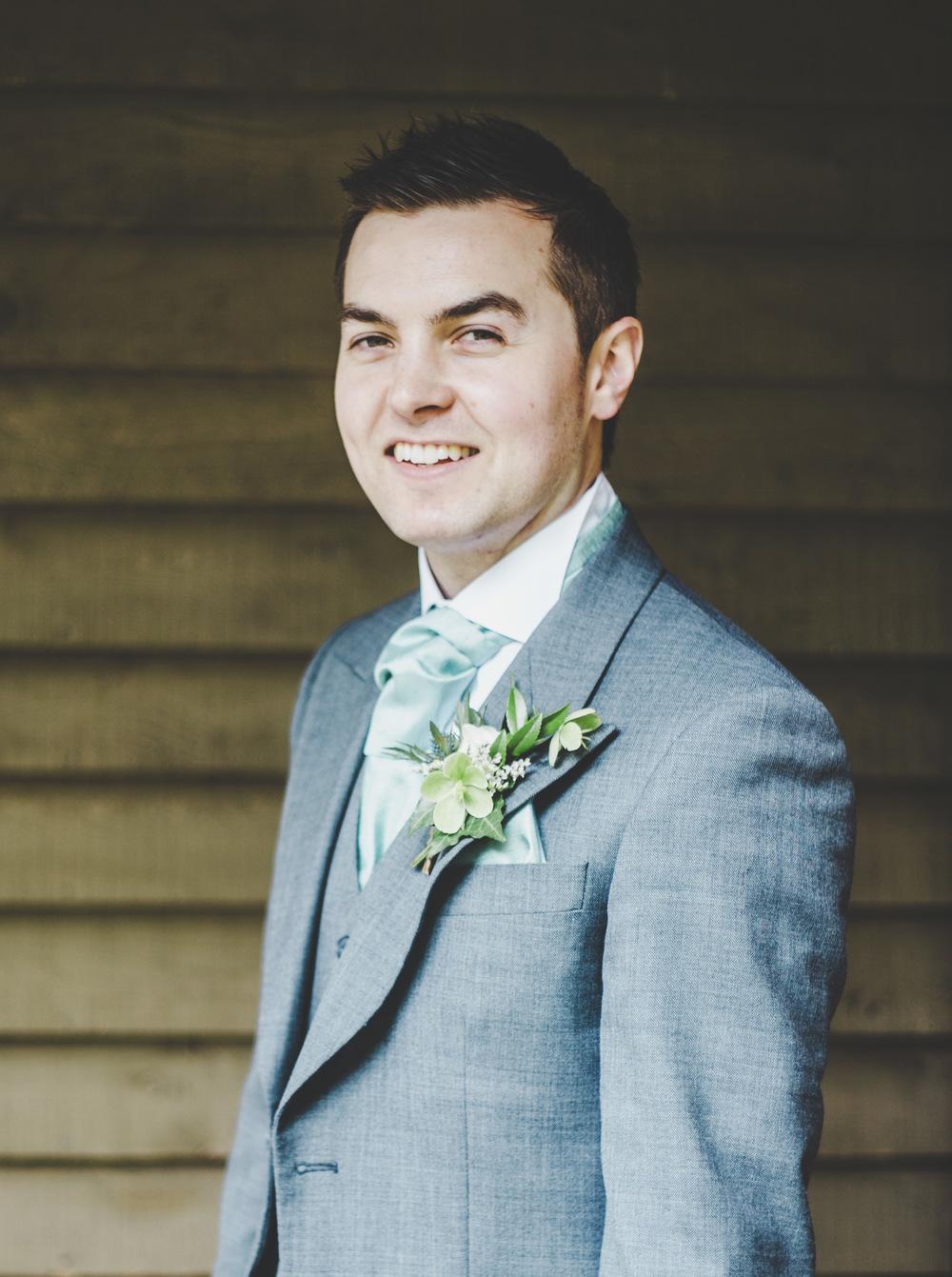 Portrait of the groom. Wedding photographer Cheshire