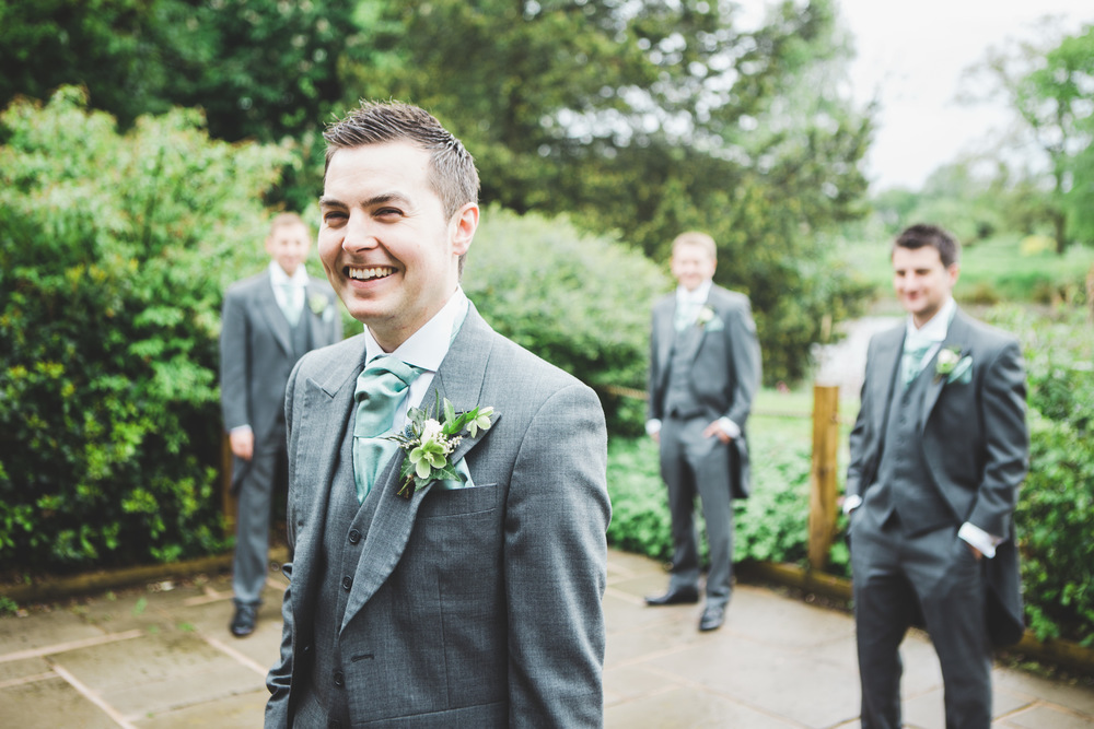 Creative wedding images of the groom and groomsmen. - Cheshire wedding