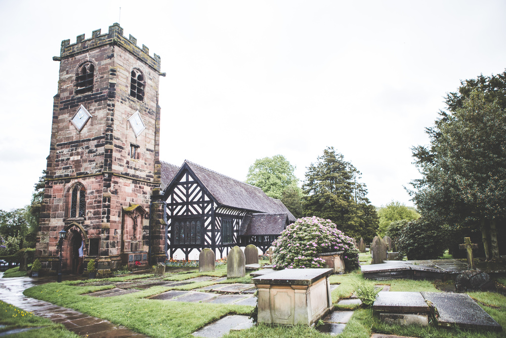 The exterior of the church - cheshire wedding