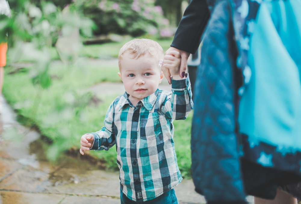 One of the younger guests for The Oak Tree of Peover wedding.