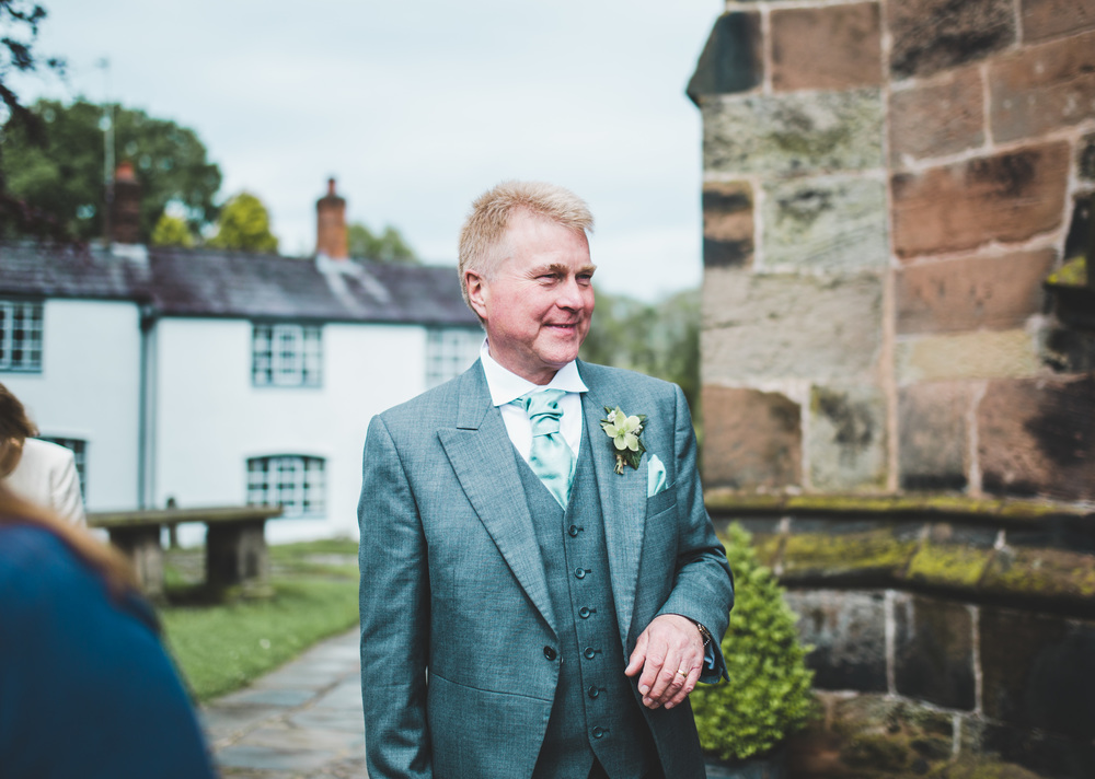 Smiles from wedding guests at The Oak Tree of Peover.