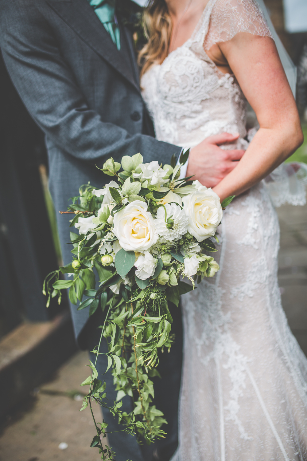 Close up of the bride's bouquet - wedding photography in Cheshire