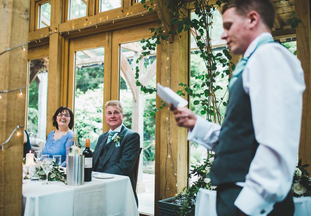 The wedding speaches- Cheshire wedding photographer