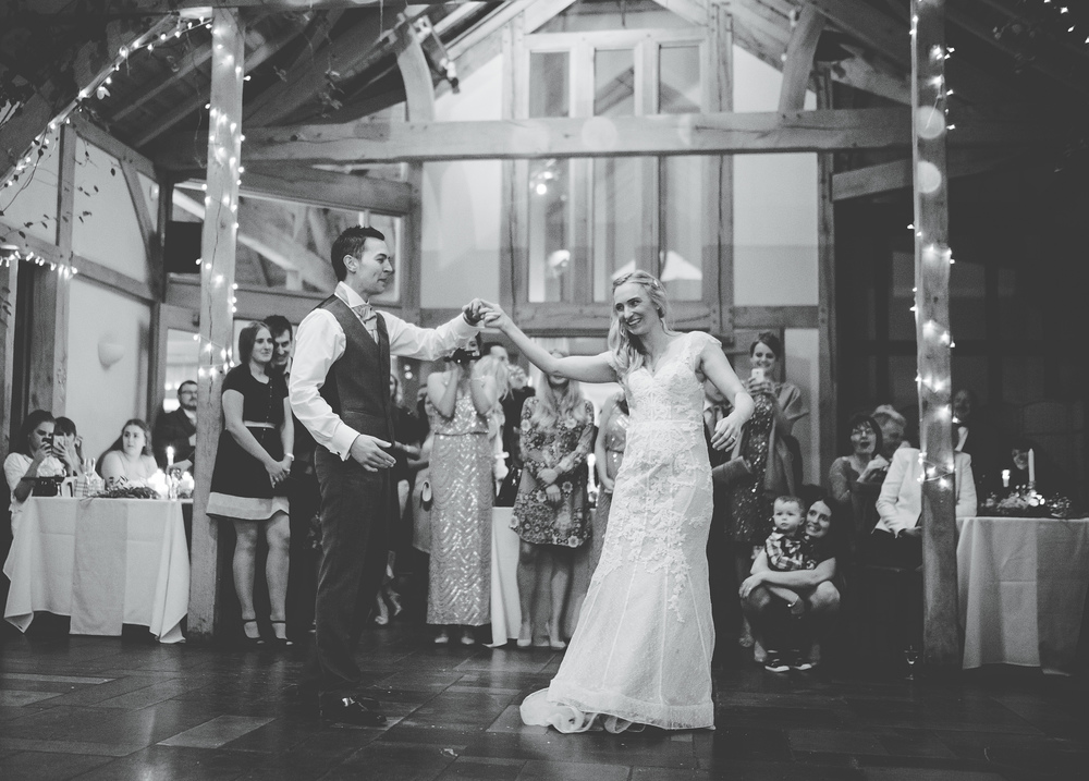 The first dance at The Oak Tree of Peover.