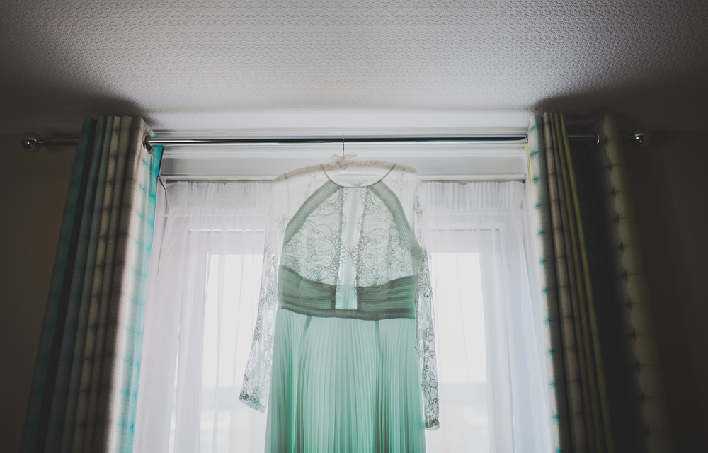 The brides beautiful gown - wedding photography in the North West