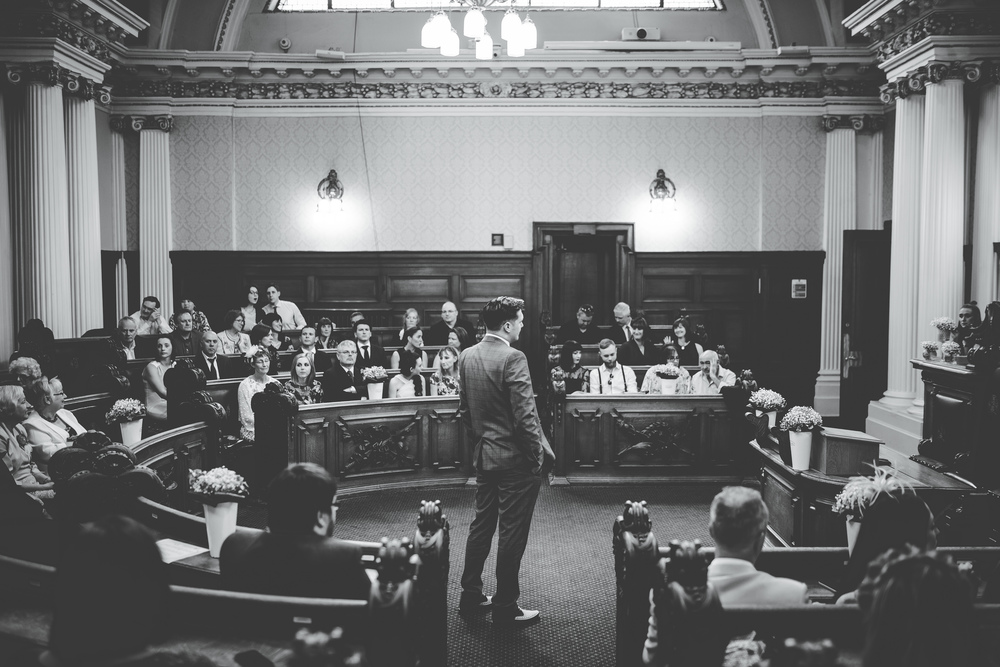 Groom waiting for the bride to arrive - north west wedding photographer