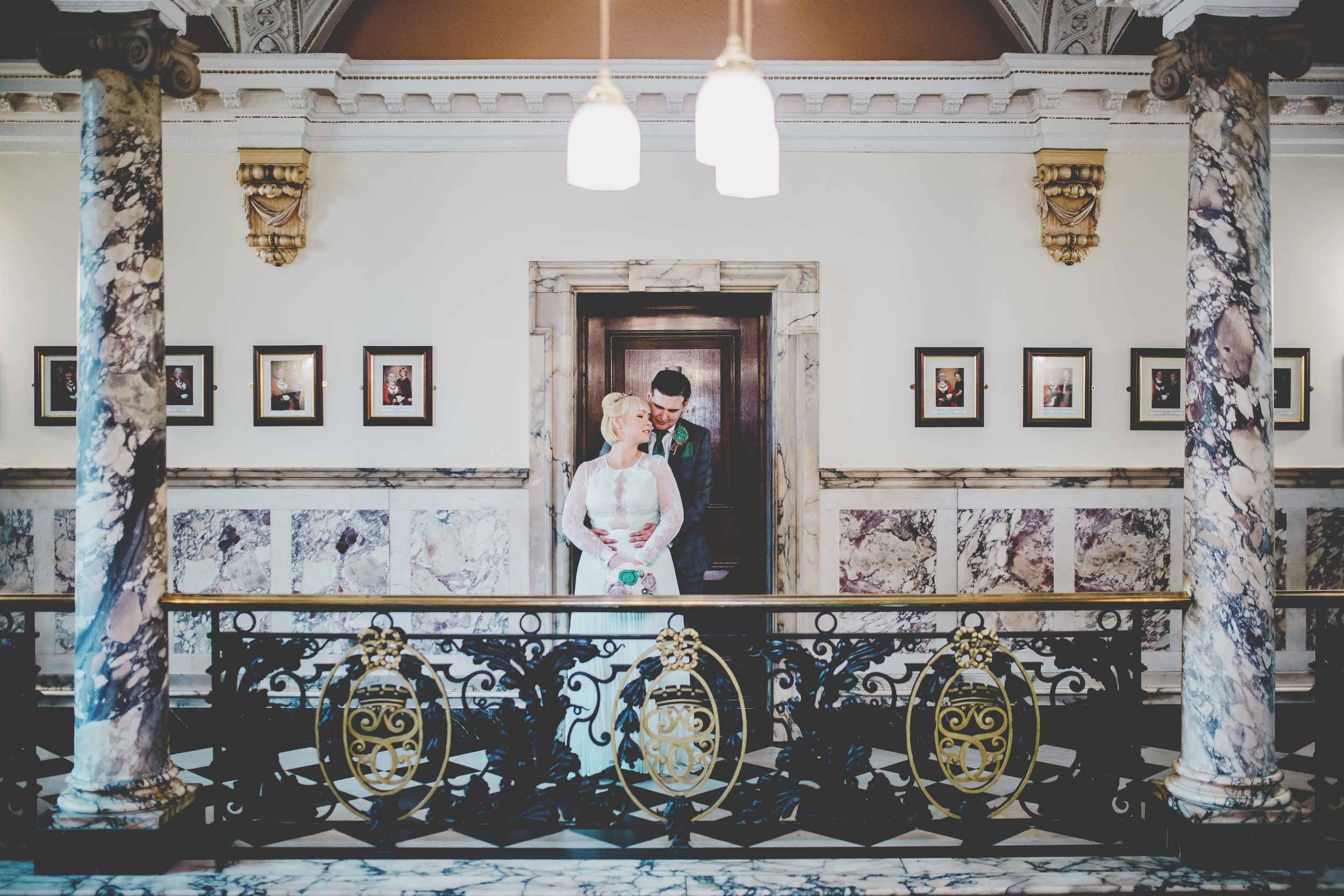 North West Wedding Photographer - couple at Stockport Town Hall