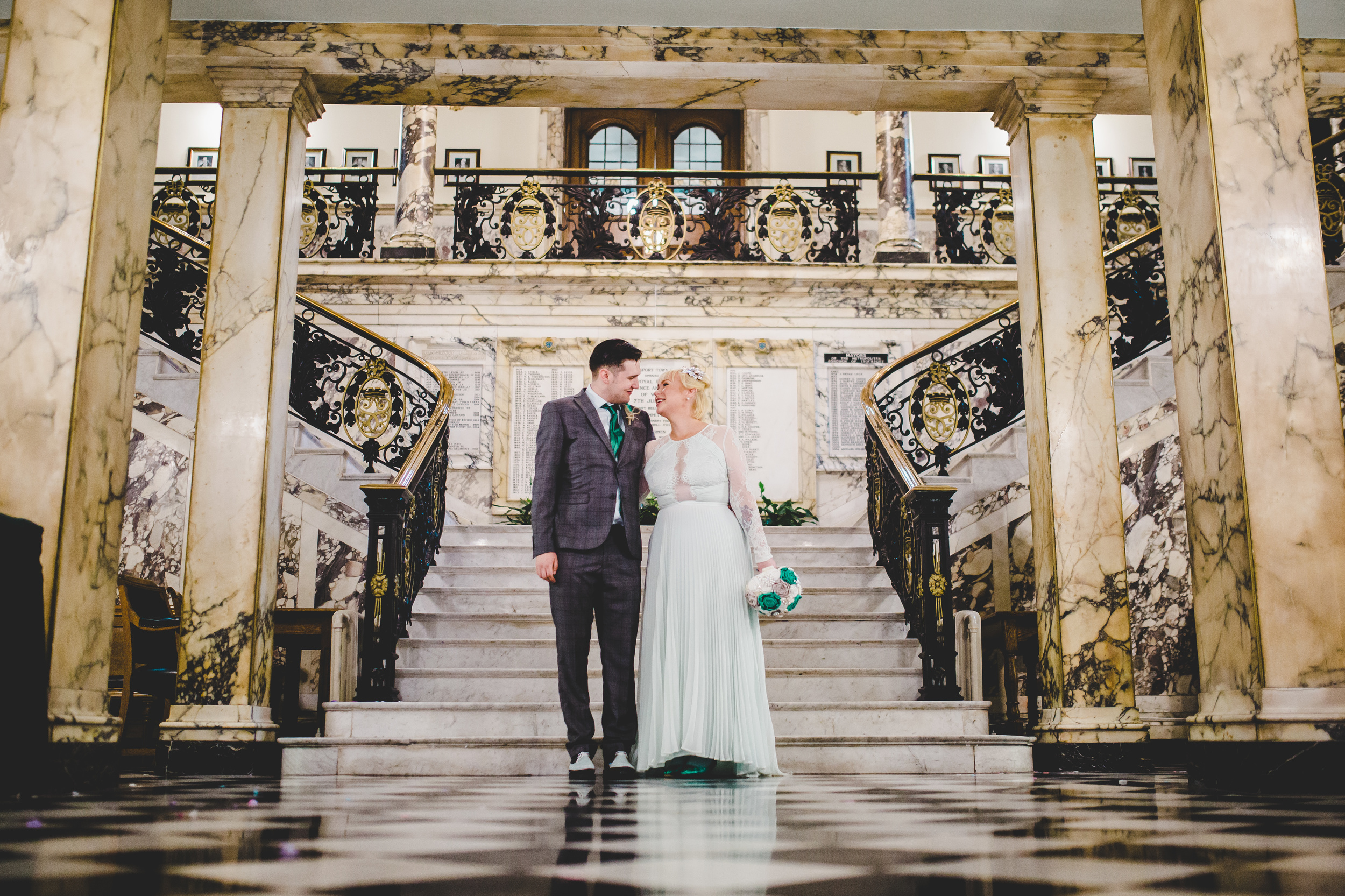 beautiful interiors - Stockport Town Hall wedding