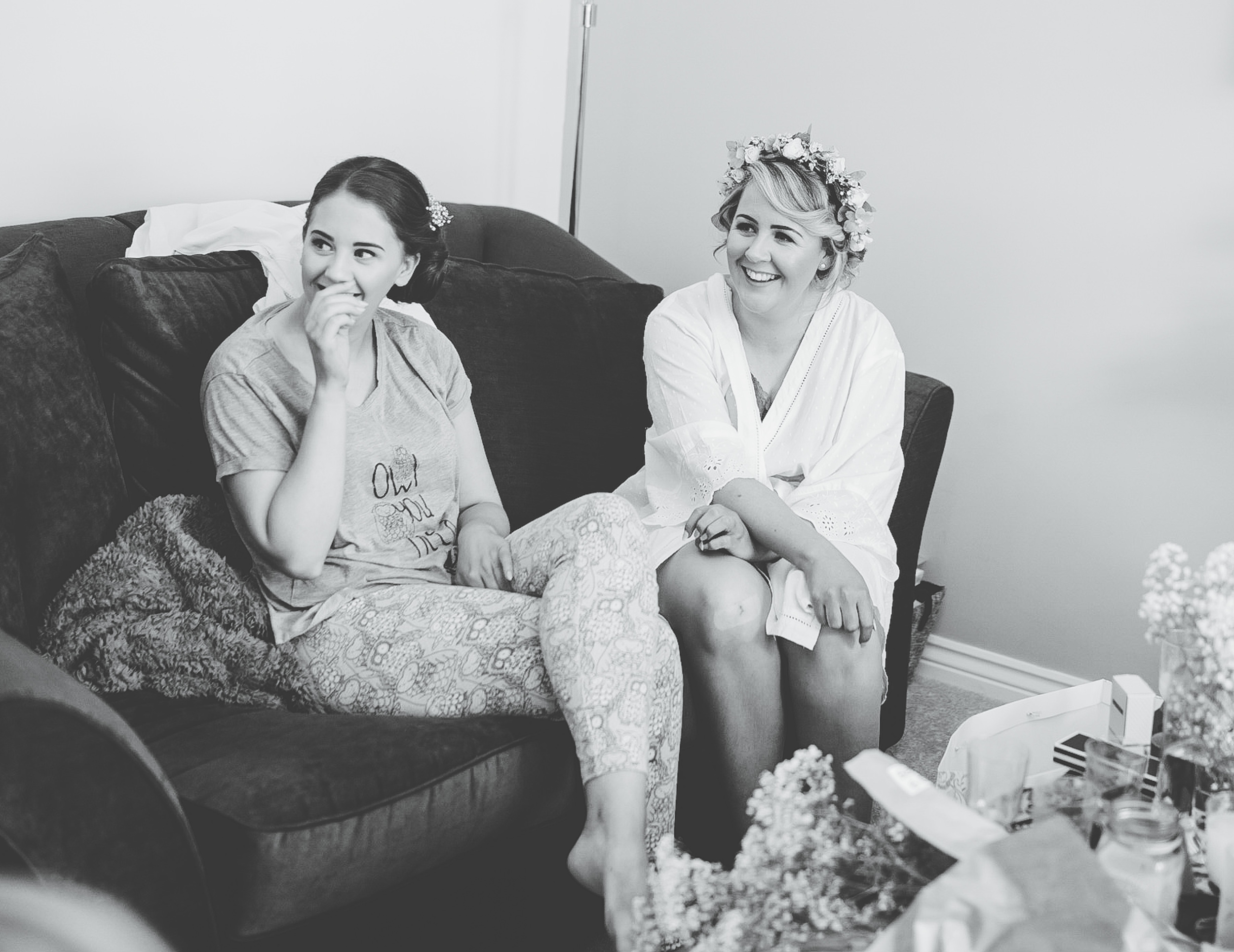 documentary wedding photographer North West - brides prep