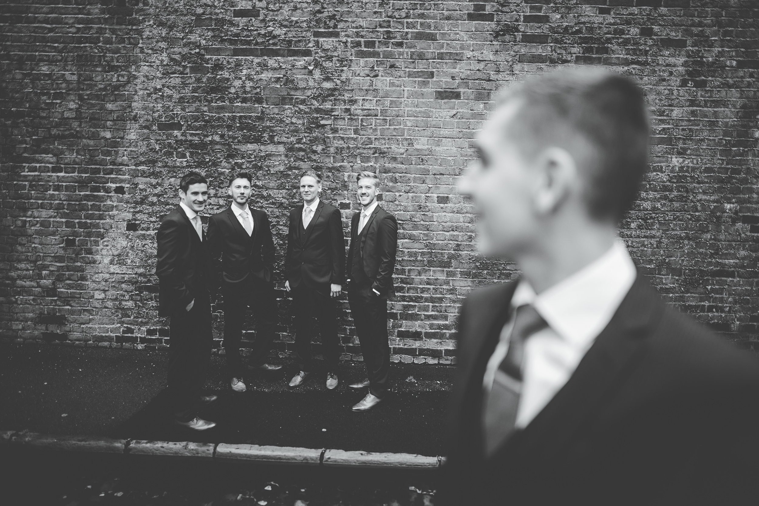 groom and groomsmen - manchester