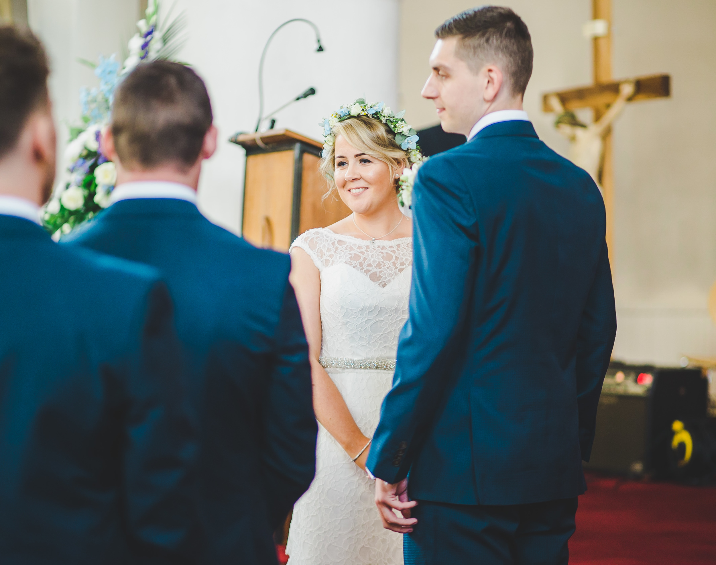 bride in church - manchester wedding photographer