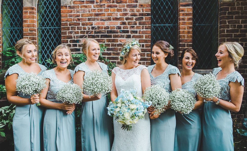 the bride and her beautiful bridesmaids.- Relaxed wedding photographer