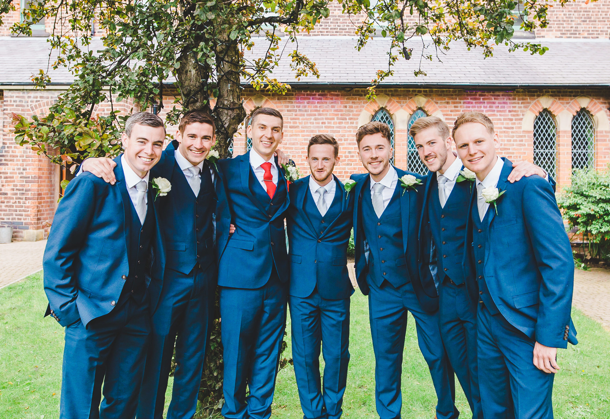 groomsmen at Gorton Monastery