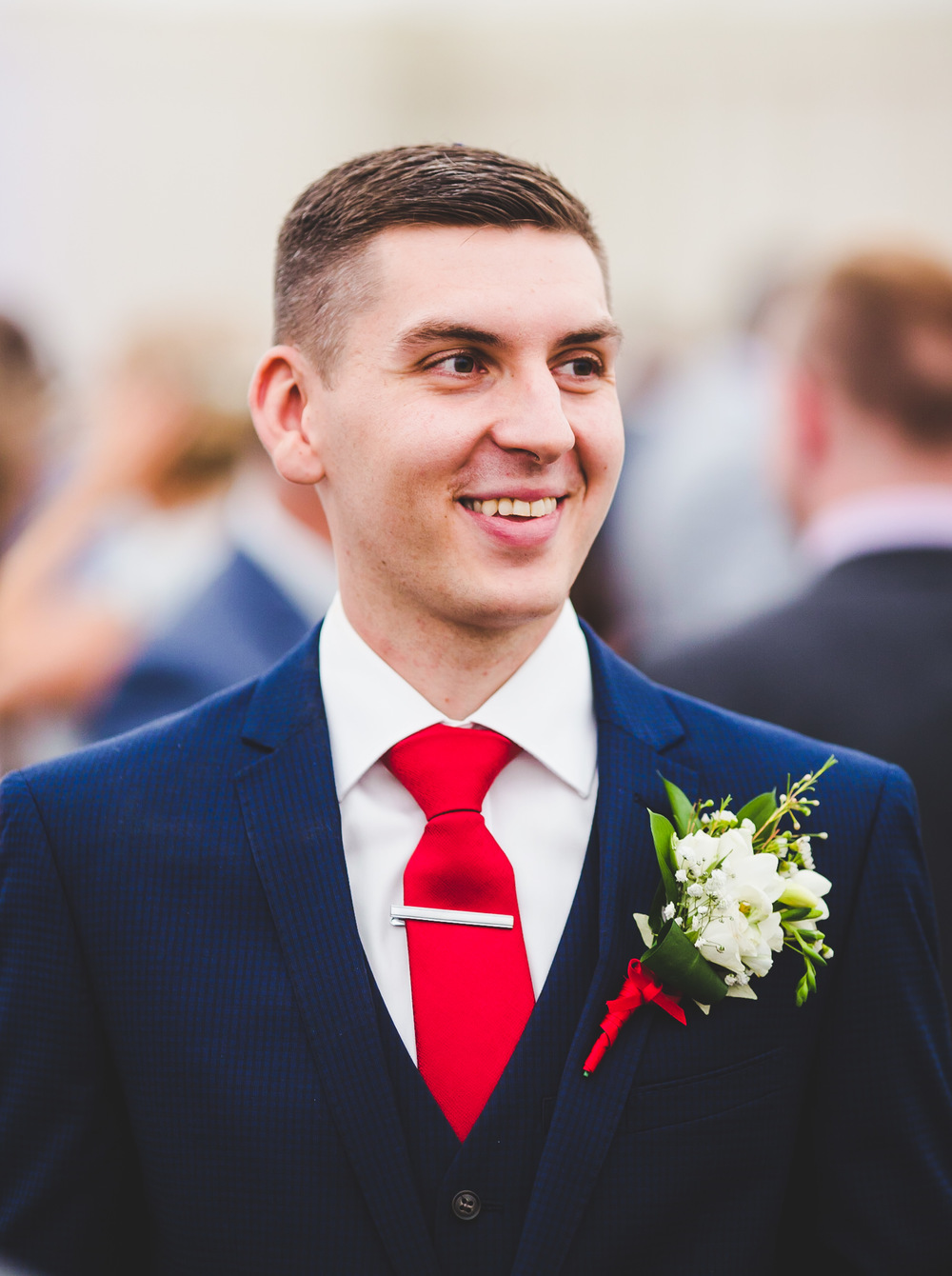 Portrait of the handsome from smiling.- lancashire wedding photographer