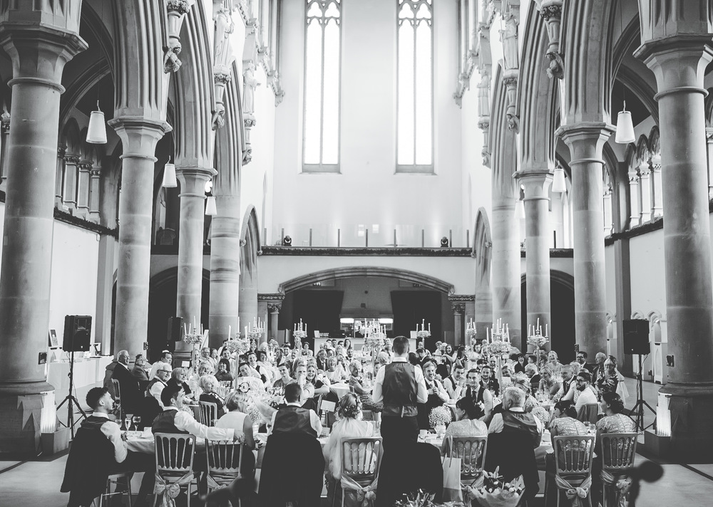 The reception at The Gorton Monastery.