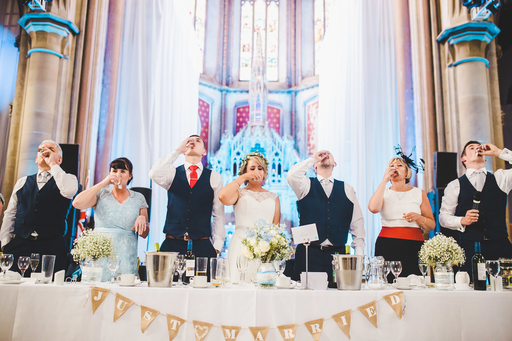 The bride and grooms table- Relaxed wedding photography