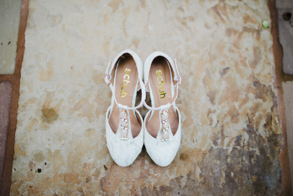 The brides choice of shoe for the Manchester wedding.