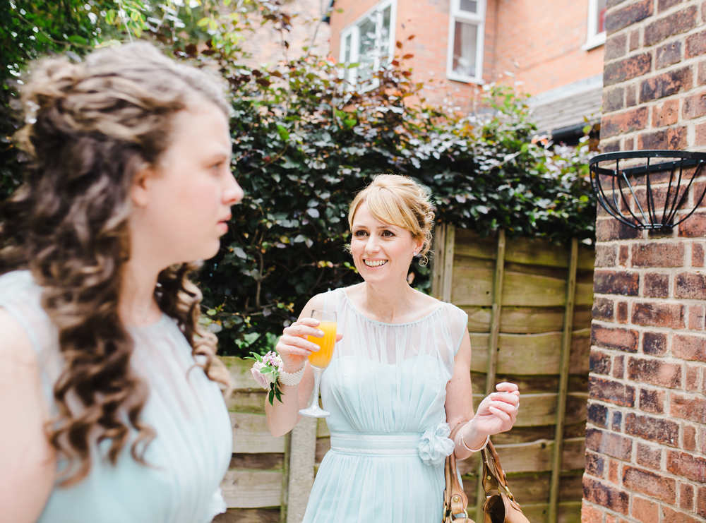Two of the bridesmaids. Manchester wedding photographer.