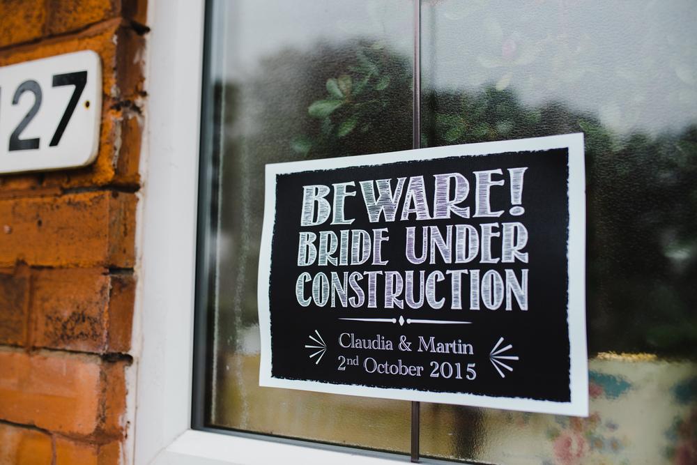 Beware, Lancashire Bride under construction.