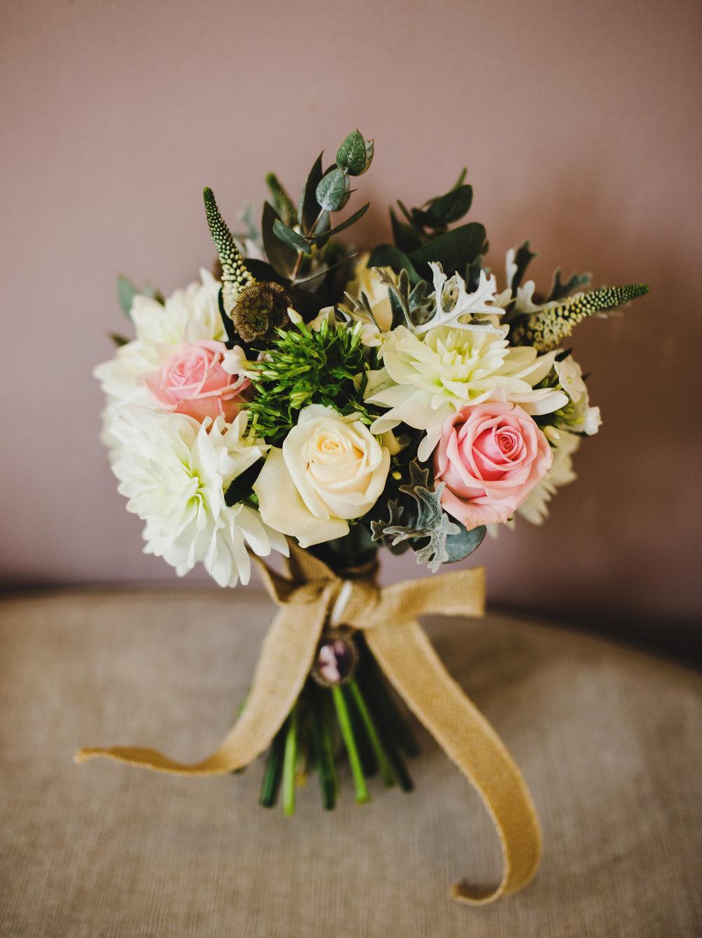 The rustic flower bouquet. -Lancashire wedding photograpy