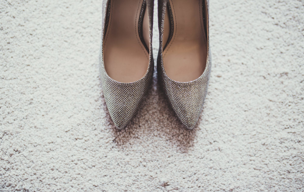 The brides shoes for the day.  Wedding photography in Lancashire.