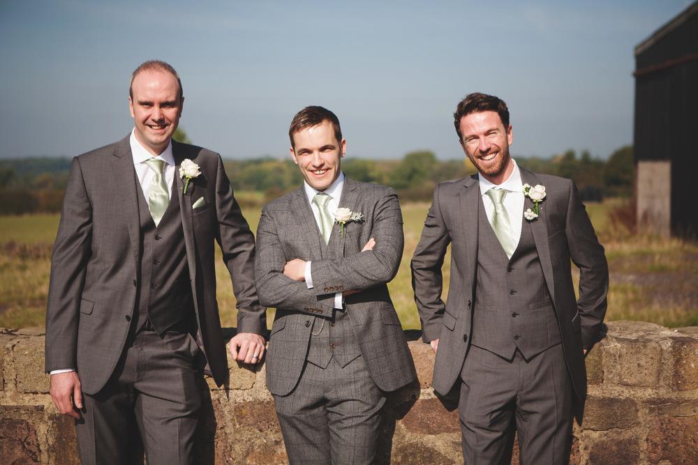 The groomsmen. Creative Lancashire wedding photographer.