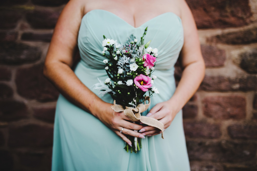 The bridesmaids flower bouquets. Preston wedding photography