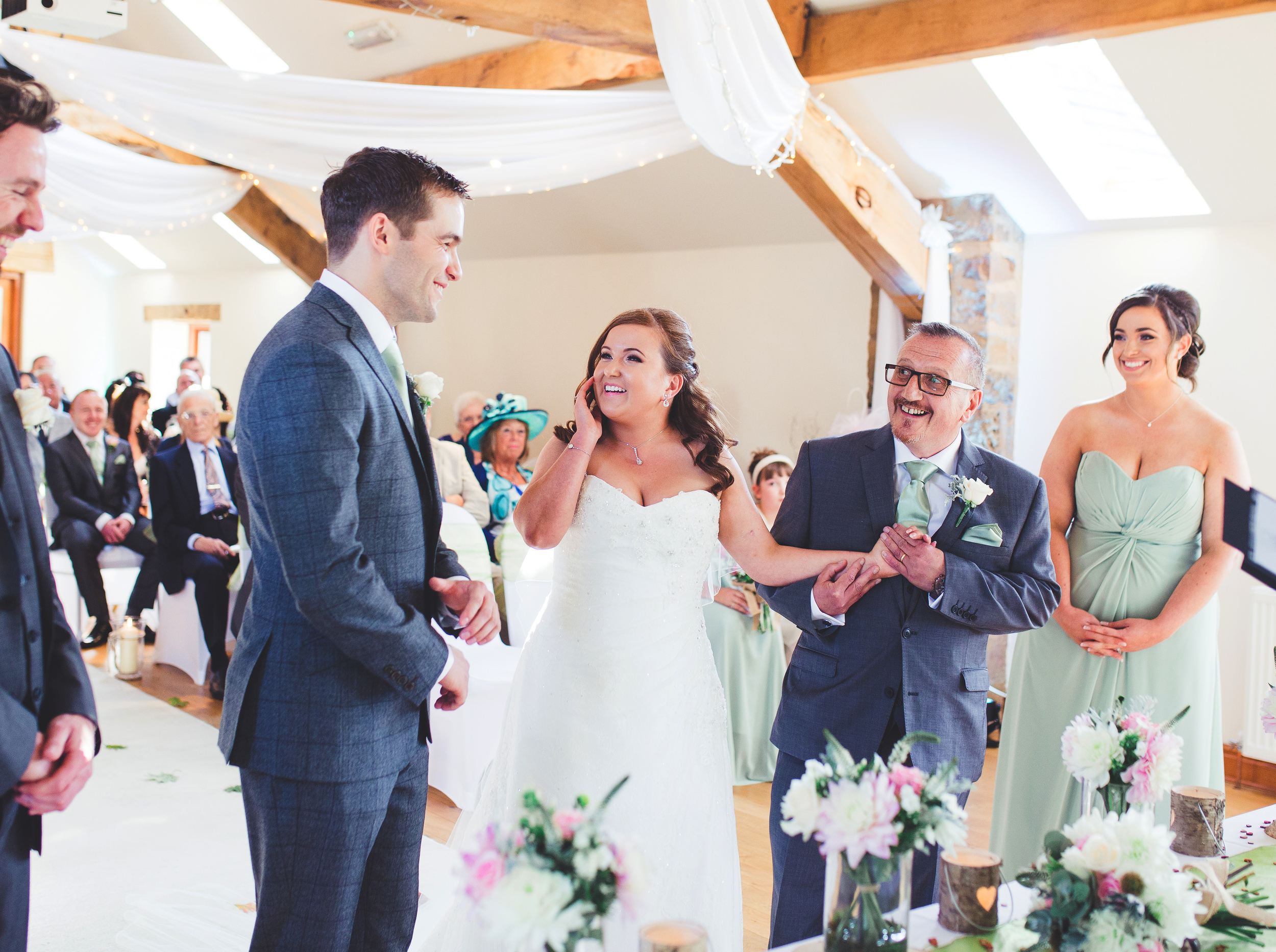 Bride and father moment - Beeston Manor wedding