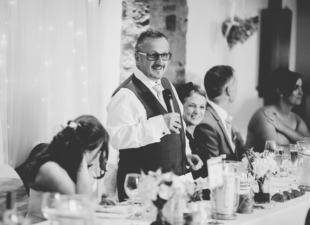 Speech from the father of the bride. Beeston Manor, Preston.