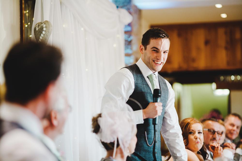 The grooms speech at Beeston Manor.