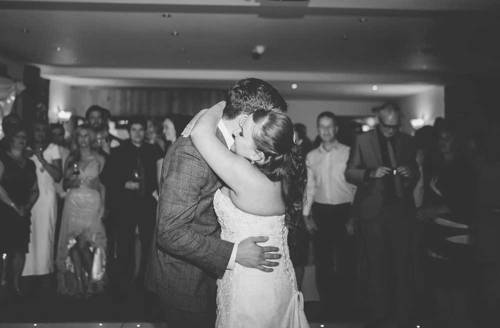 The first dance for the newly weds in Lancashire.