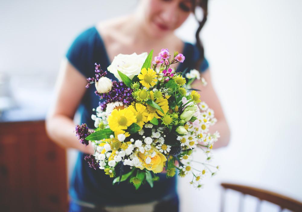 Flower bouquet- Lancashire country wedding