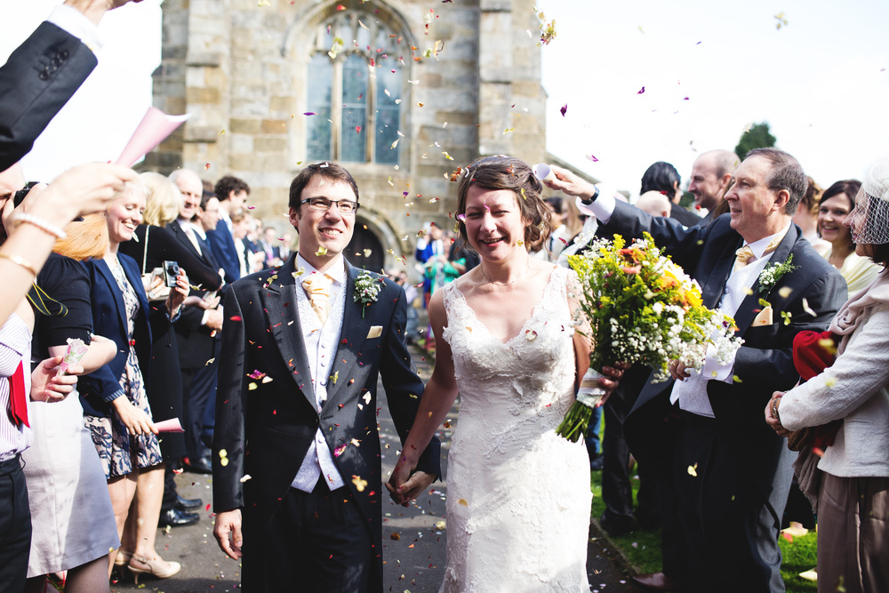 Confetti filled wedding- Lancashire wedding photographer