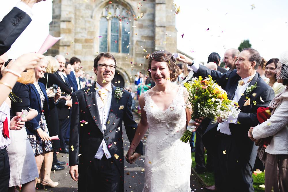 Confetti filled wedding- Lancashire wedding photographer