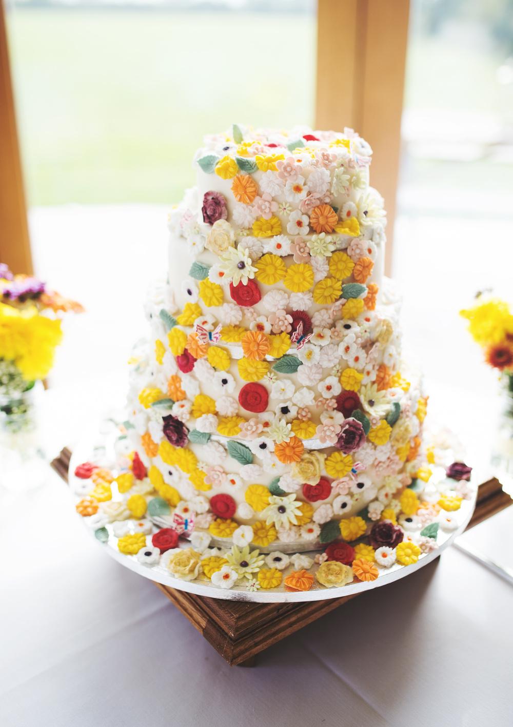 The wedding cake- Rustic themed wedding