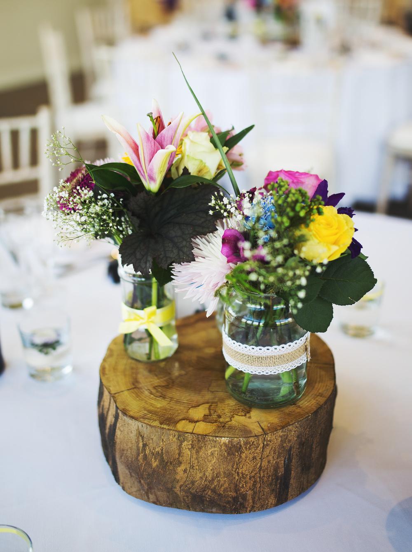 Table arrangment for the lancashire wedding.