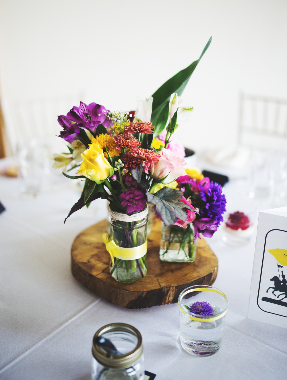 Wedding table favours- Modern relaxed wedding.