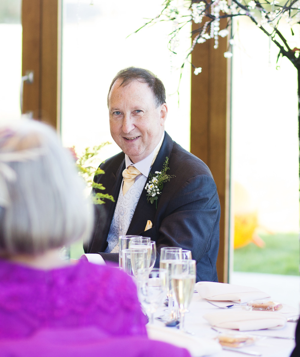 Smiling guests-Lancashire wedding photographer