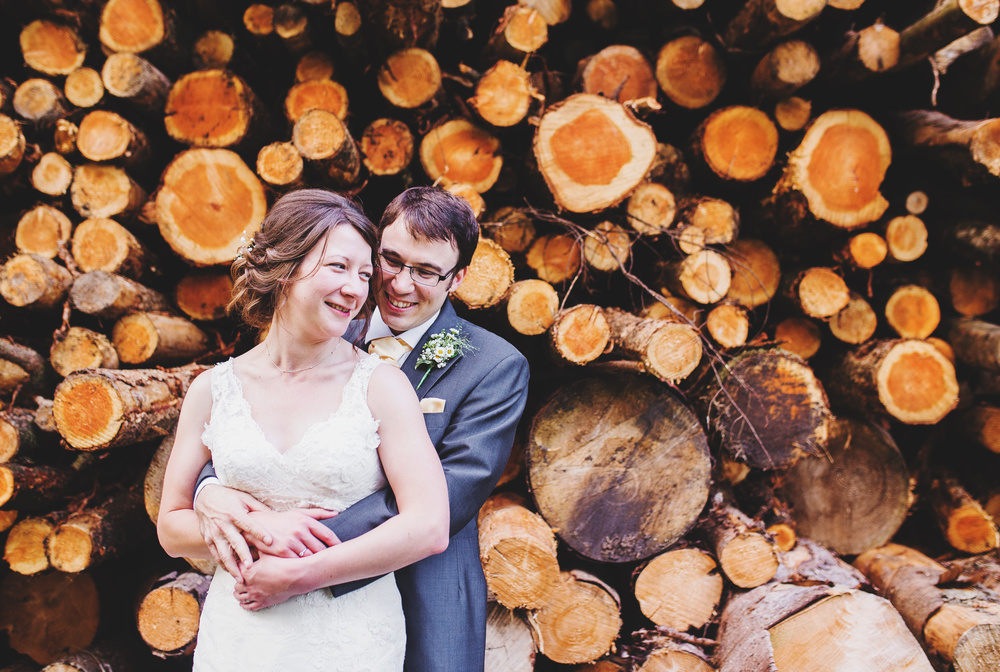 Creative image of the bride and groom- Ribble Valley photographer
