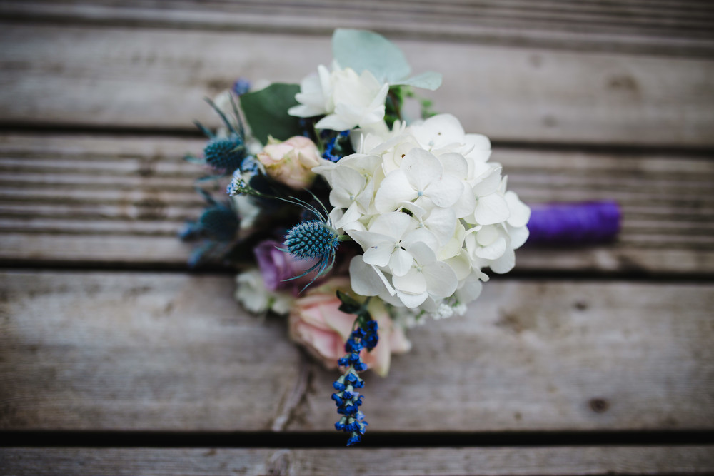 The bridal flowers for the mad hatter themed wedding