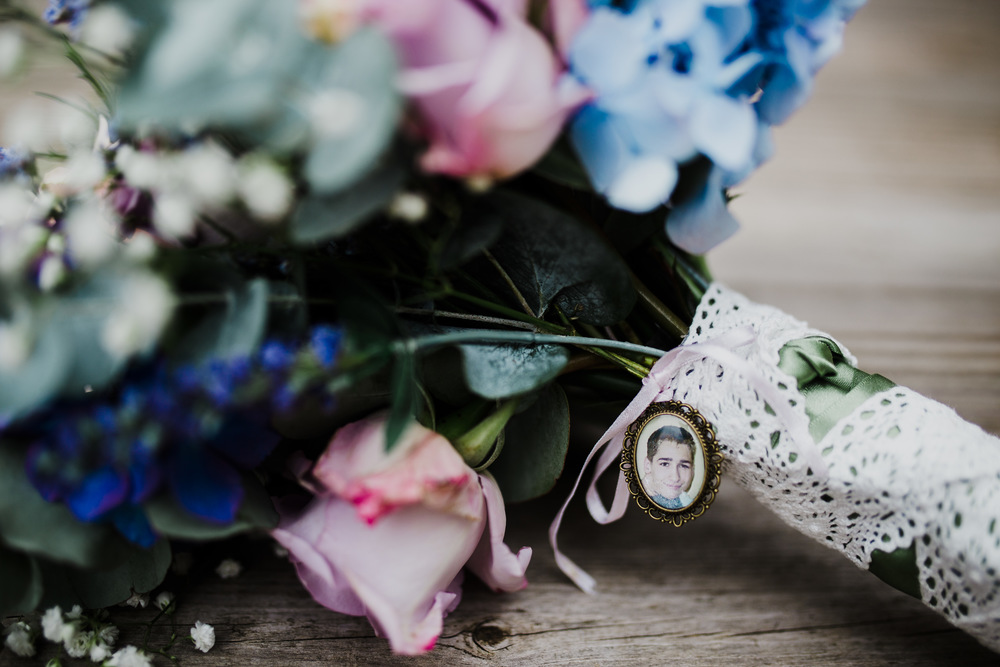 Close up image of the flower bouquet -Creative wedding photography