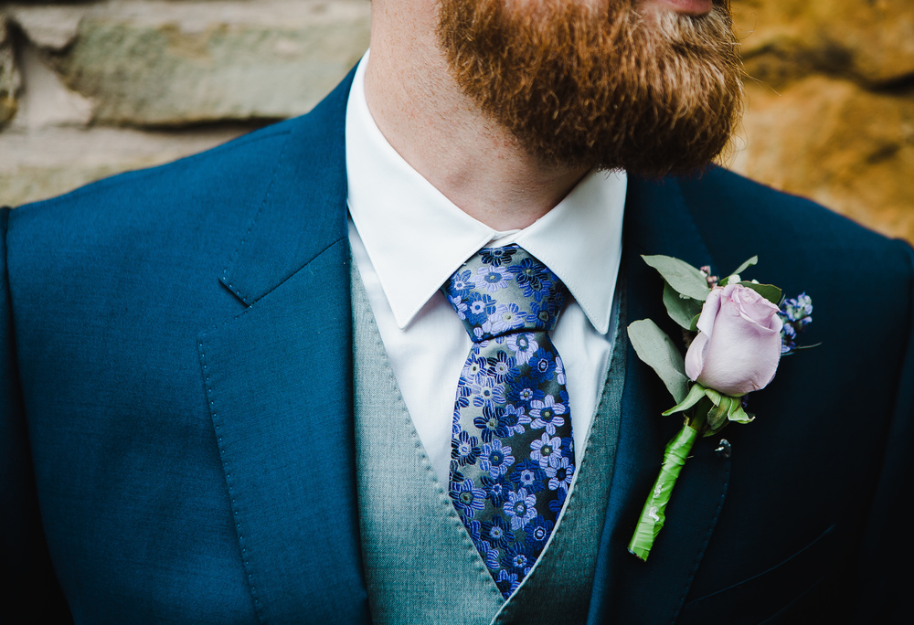 The detail of the grooms suits- Vintage themed wedding