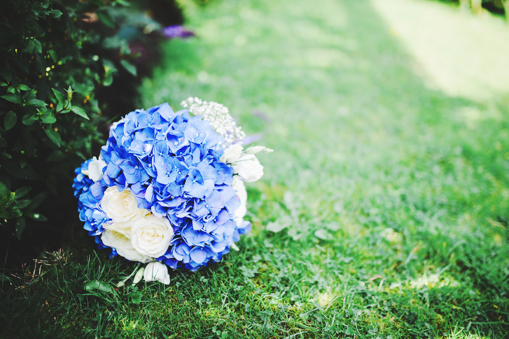 Beautiful flower bouquet for the outdoor wedding at Avenham Park