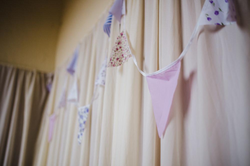 Vintage style bunting- Preston wedding photographer