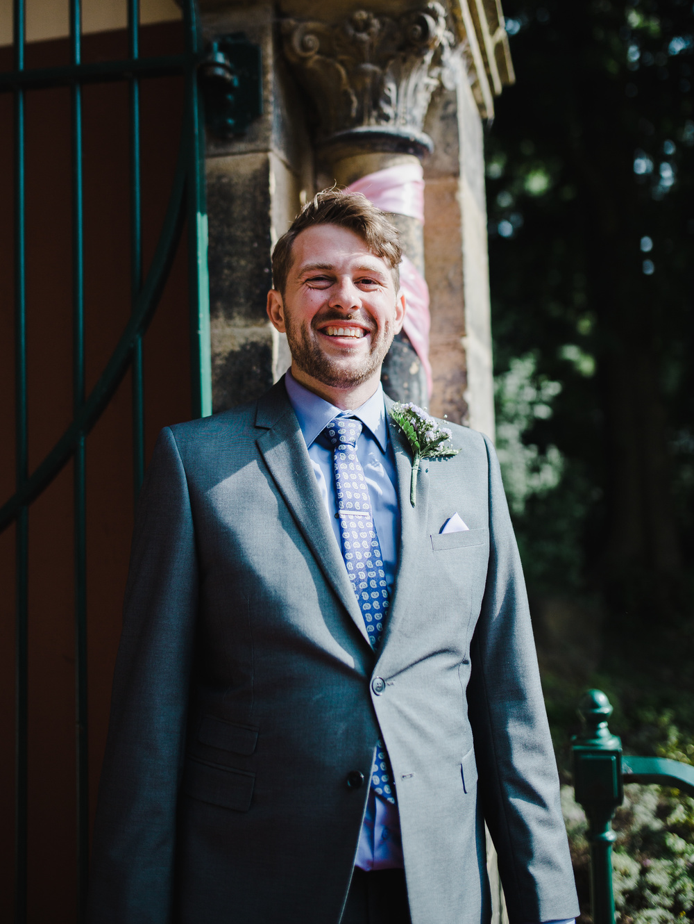 Portrait of the groom- Relaxed modern wedding