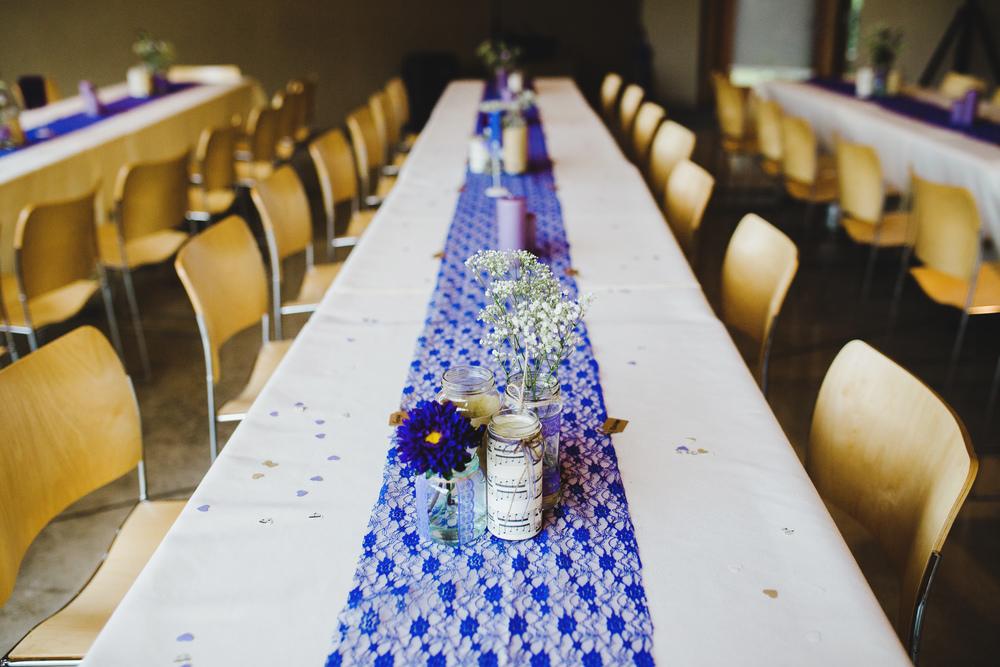Table arrangement at the Avenham Park in Preston