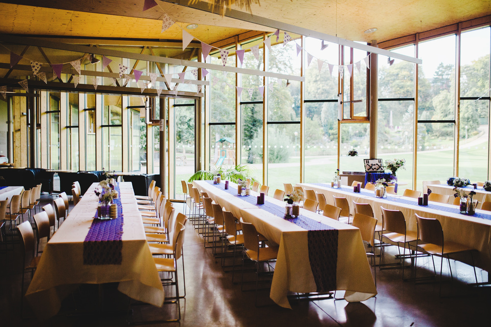 The indoor area for the wedding meal-The wedding venue of choice is the Avenham Park in Preston