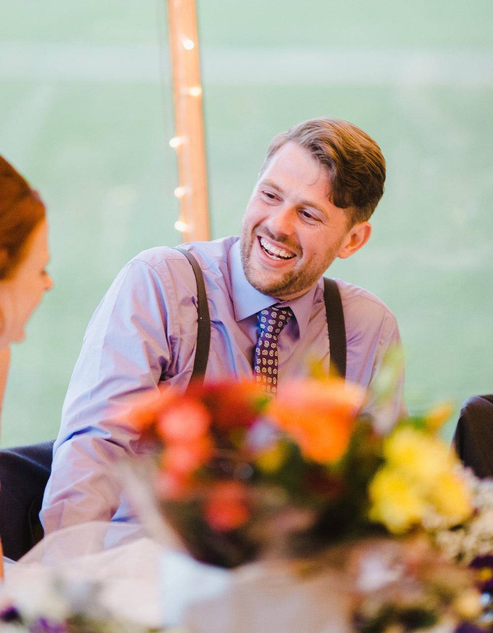 The groom smiling- Creative wedding photographer lancashire